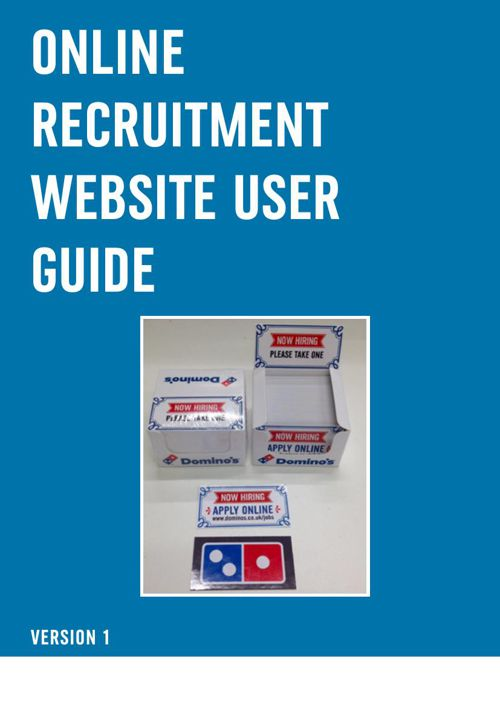 Domino's User Guide v6 September 2015