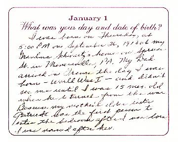 Grandma Hoyes' Childhood Memories