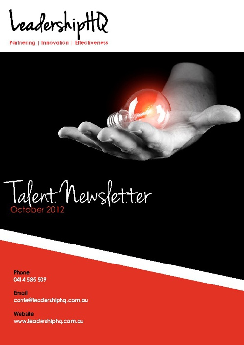 Leadership HQ Talent Newsletter