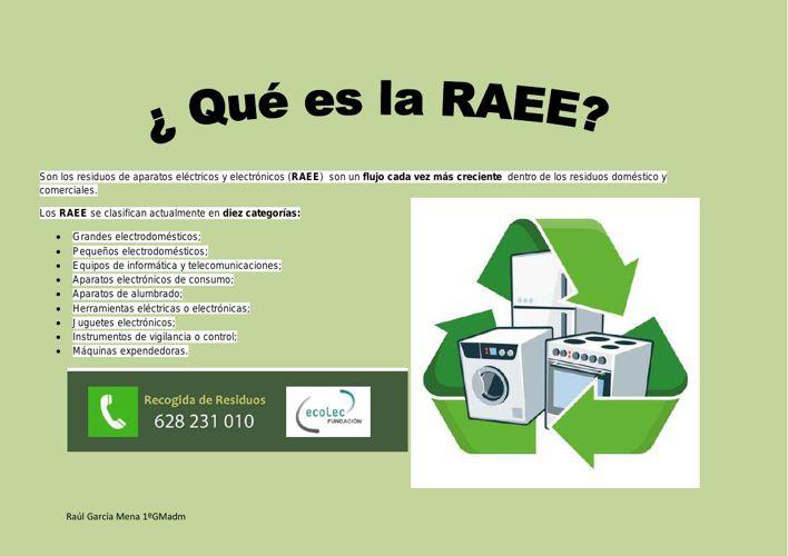 Son los residuos de aparatos eléctricos y electrónicos