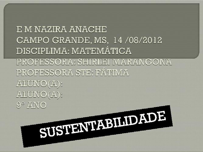 Sustentabilidade Ações