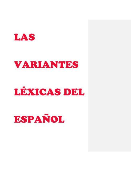 Paty 2°A Variantes Lexicas