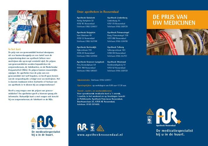 Apotheek Roosendaal - Geneesmiddelkosten