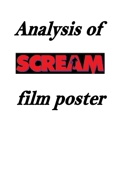 Analysis of Scream film poster