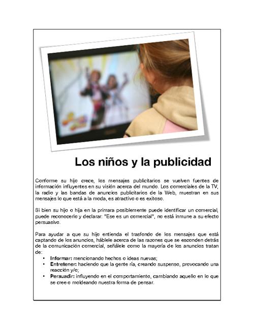 Los niños y la publicidad