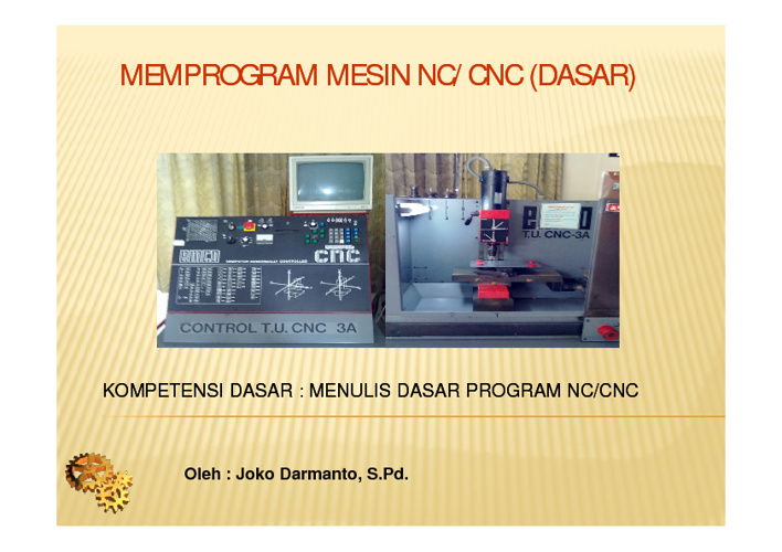 Menulis Program CNC/NC
