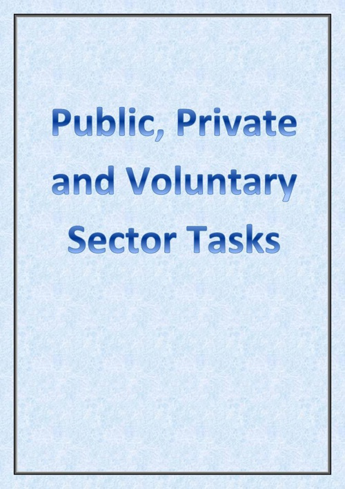 Private, Public and Voluntary Sector