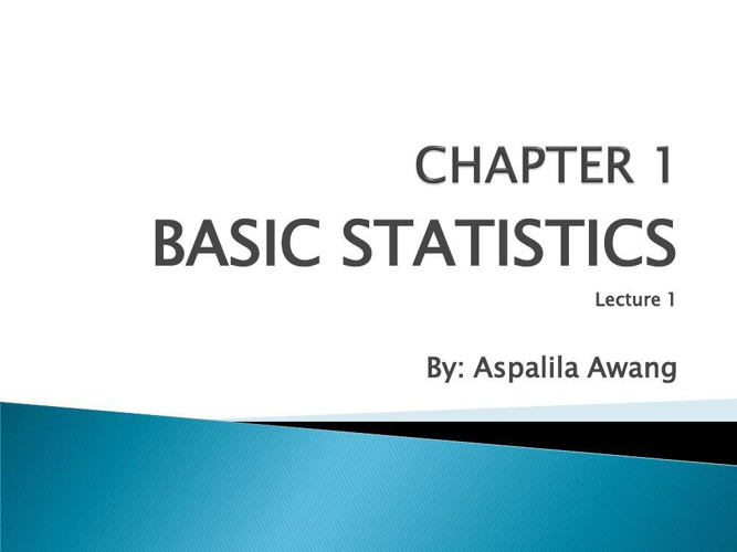 JF608 Quality Control chapter-1-basic-statistic
