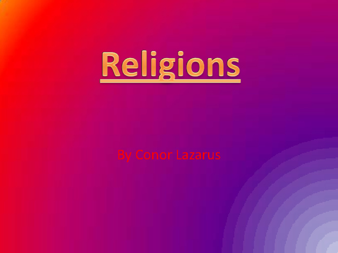 Middle East Religions Compare/Contrast - Conor Lazarus 4