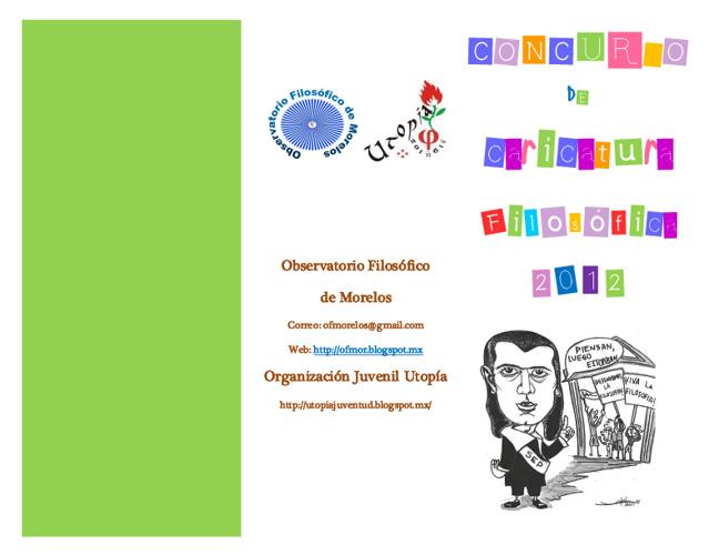 Convocatoria de Caricatura Filosófica 2012