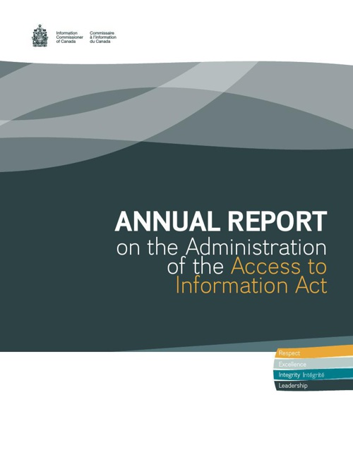 Administration of the Access to Information Act - 2013-2014
