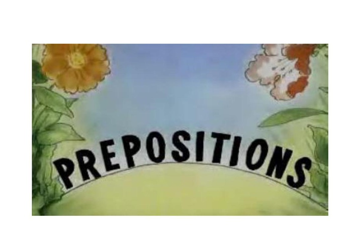 Prepositions are short words