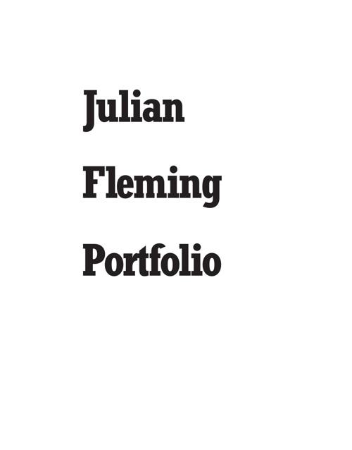 Julian Fleming Portfolio