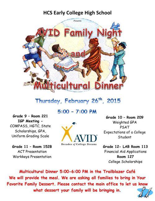 ECHS AVID Family Spring 2015 Flyer 2