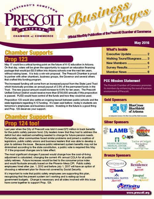 Prescott Chamber 5-16 Newsletter