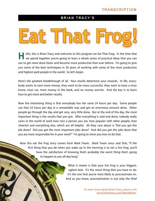 Brian-Tracy-Eat-That-Frog-Report