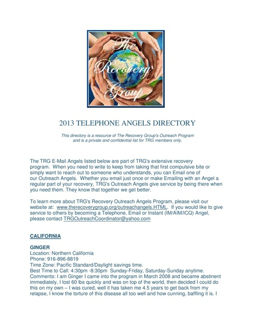TRG'S TELEPHONE ANGELS