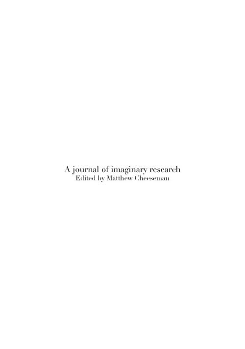 Journal of Imaginary Research Vol 1 2015