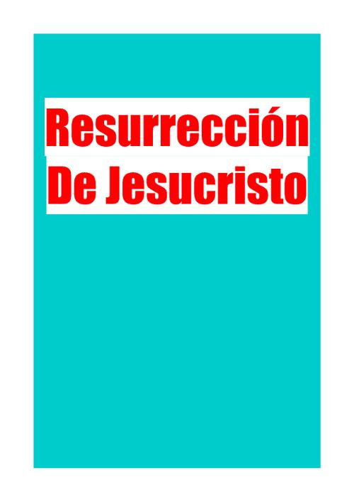 Resurreción De Jesucristo