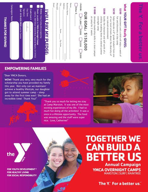 YMCA Overnight Camps Annual Support Campaign 2016