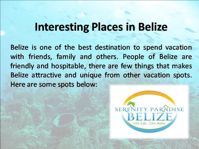 Interesting Places in Belize
