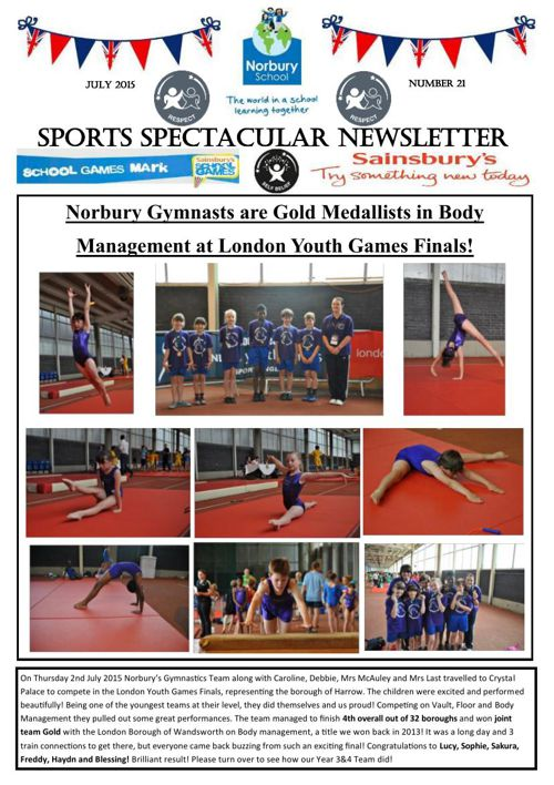 Sports Newsletter Number 21