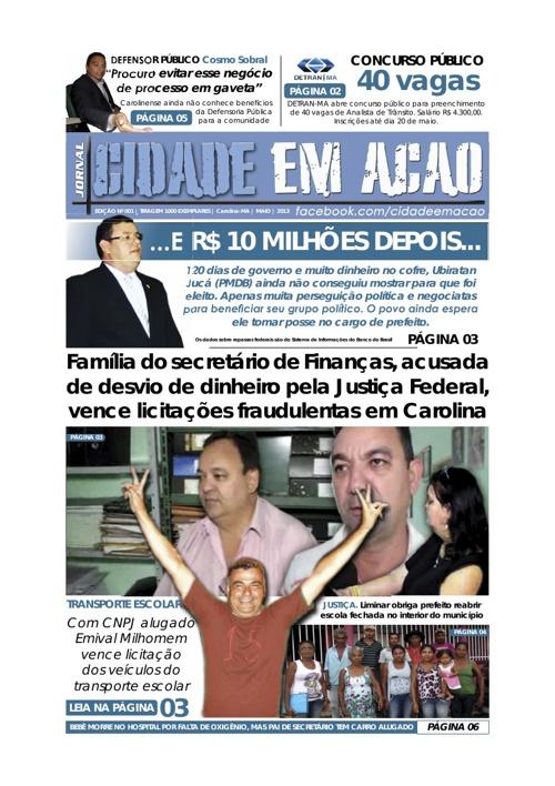CIDADE EM ACAO EDICAO Nº 001