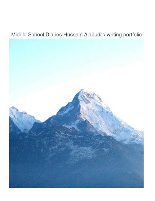 Middle School Diaries: Hussain Alabudi Writing Portfolio