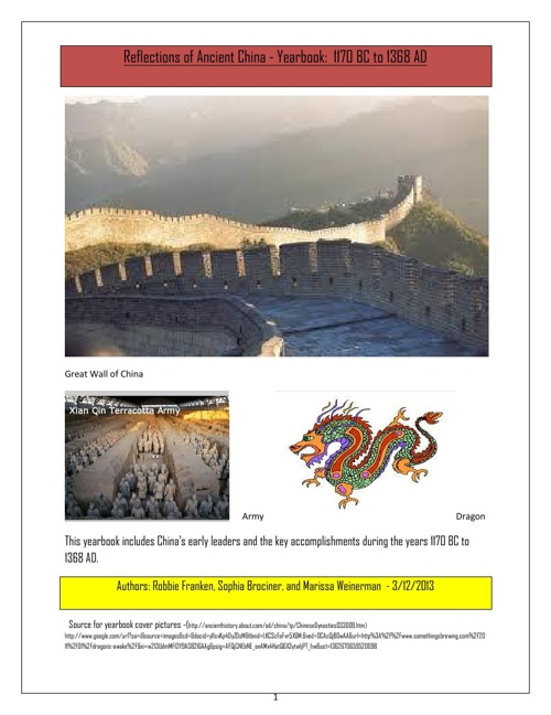 Reflections of China Yearbook 3.12.13
