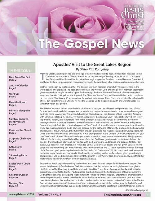 Gospel News Jan-Feb 2018