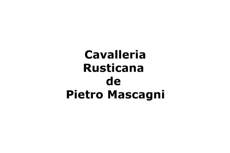 Cavalleria Rusticana en direct du MET - argument