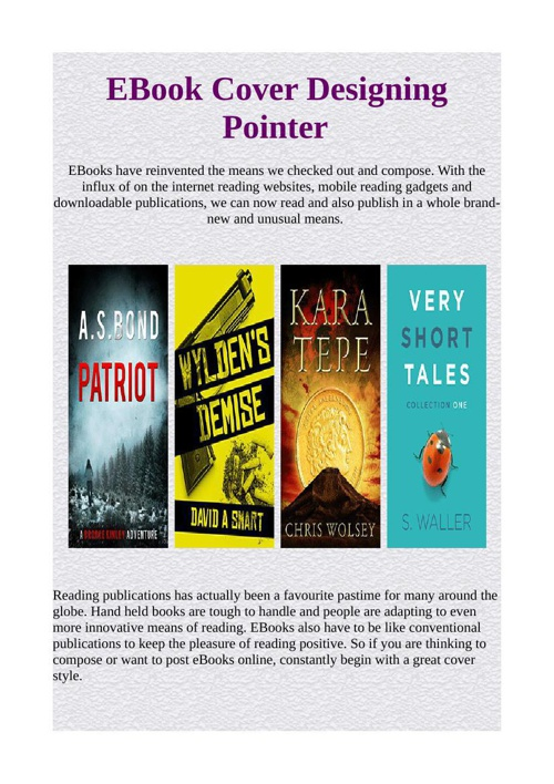 EBook Cover Designing Pointer