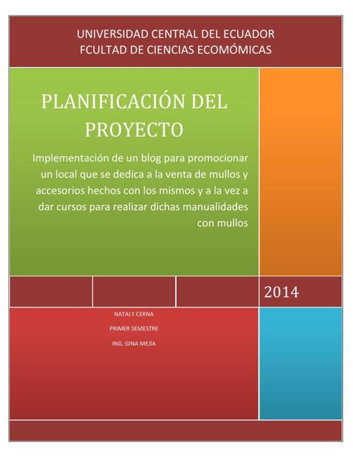 PLANIFICACION PROYECTO VERSION 4