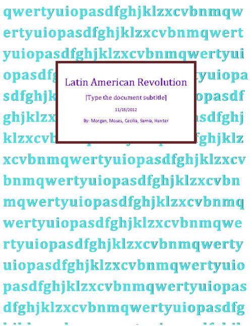 Latin America (hwh2)