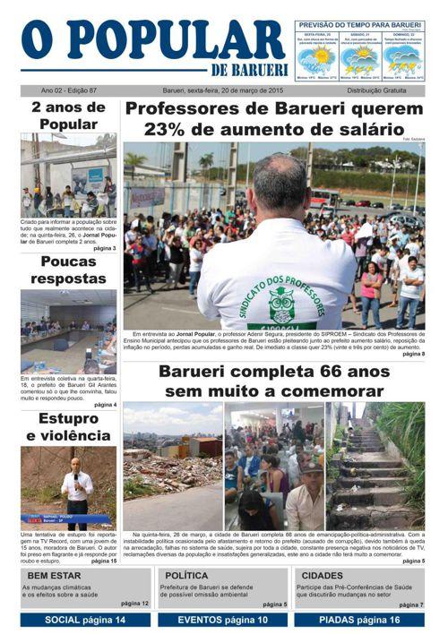 87ª edição do Jornal Popular de Barueri