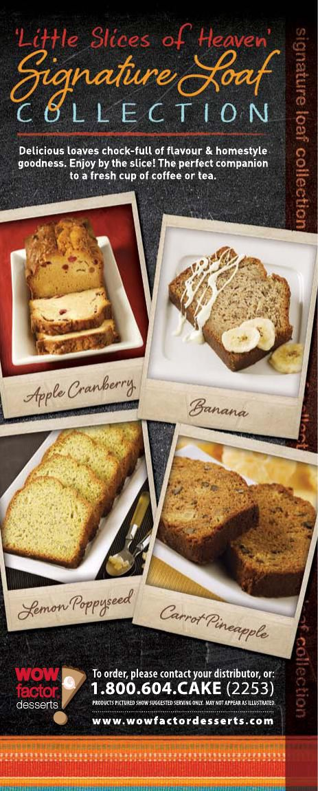 WOW! Factor Desserts Signature Loaf Collection