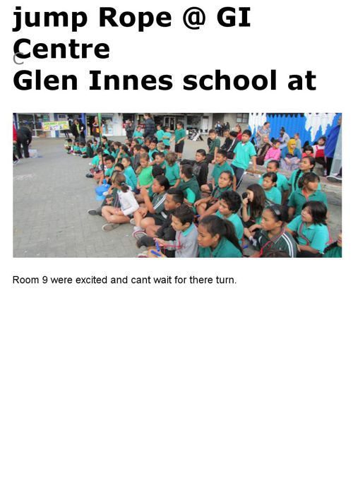 glen innes school jump Rope 2015