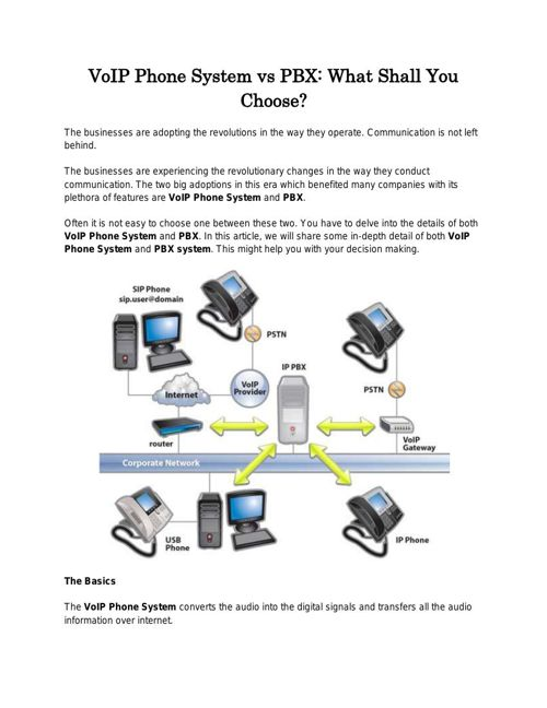 VoIP Phone System vs PBX What Shall You Choose