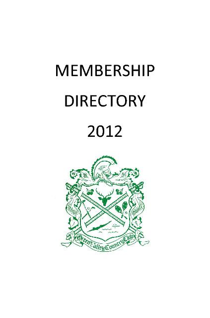 Member Directory Draft