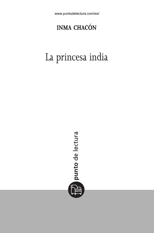 La princesa india - Inma Chacon