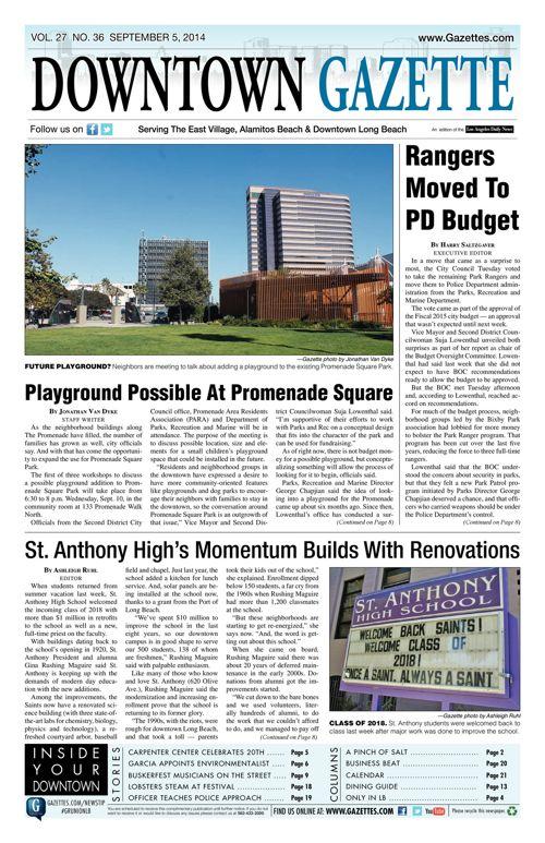 Downtown Gazette     September 5, 2014