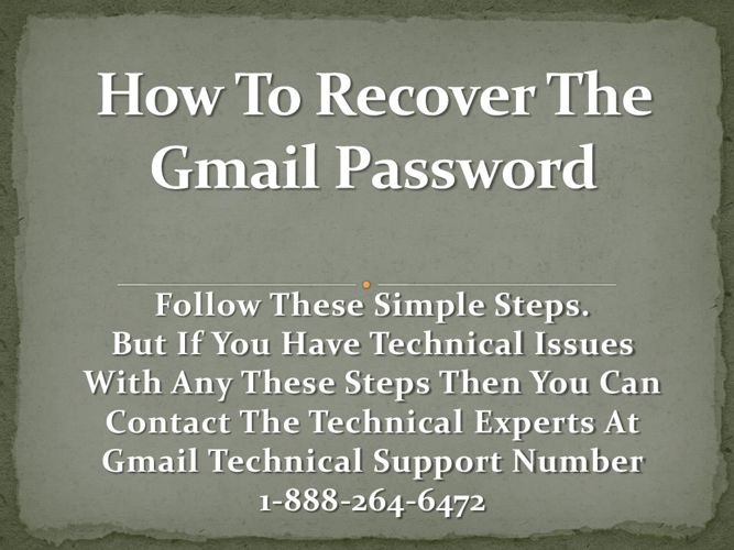 1-888-264-6472 Recover Gmail Password with experts of Gmail Cust