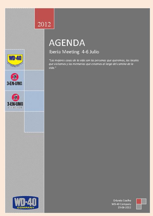 Agenda Reunion