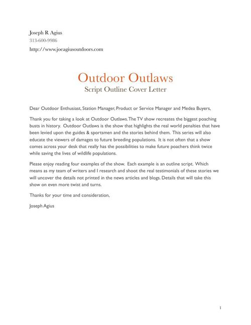 Outdoor Outlaws Script Outline Low