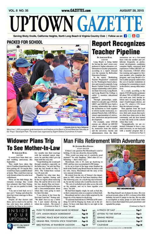 Uptown Gazette  |  August 28, 2015
