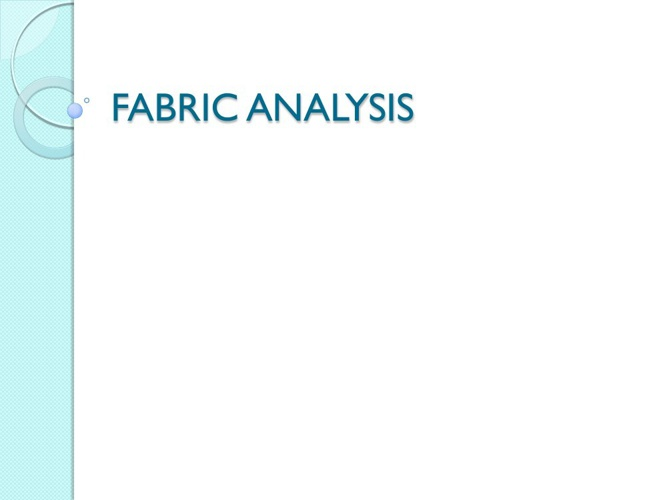 FABRIC ANALYSIS