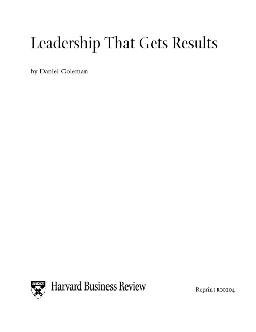 leadership gets result