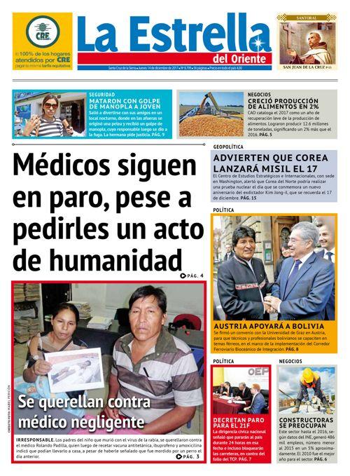 Edicion La Estrella del Oriente 14-12-2017