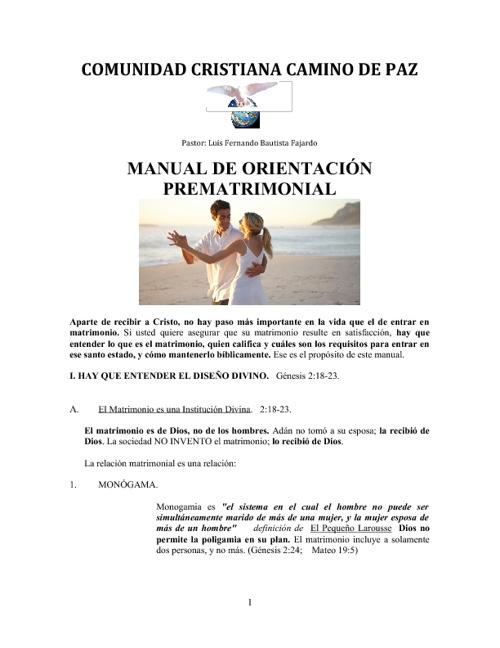 MANUAL DE ORIENTACION PREMATRIMONIAL