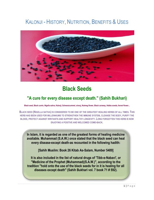 BLACK CUMIN SEED (KALONJI OIL)
